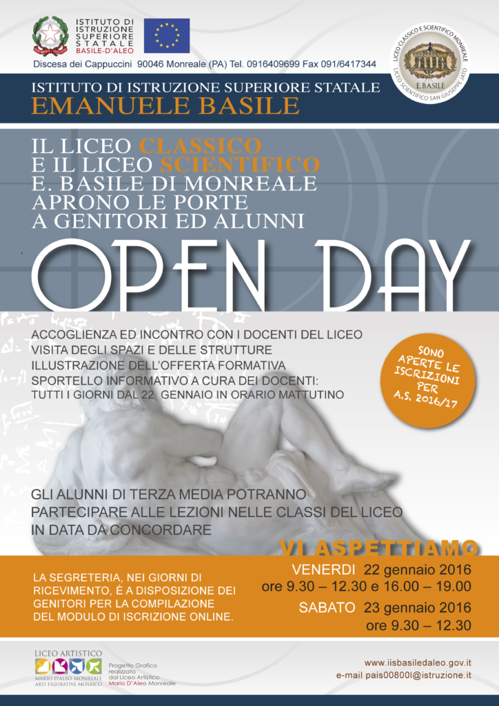 Locandina open-day